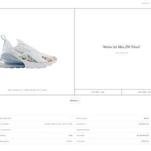 NIKE AIR 270 - WHITE FLORAL